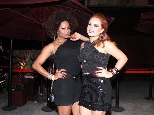 Adriana Bombom e MC Bruninha em boate na Zona Sul do Rio (Foto: Graça Paes/ Foto Rio News)