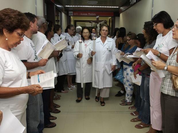 Hospital promove Via Sacra há 25 anos (Foto: Divulgação)