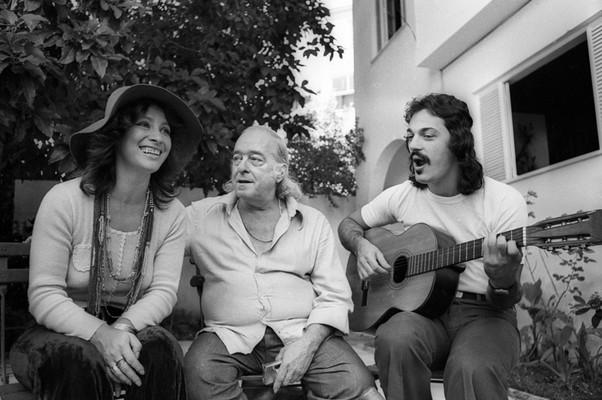 Clara Nunes, Vinicius de Moraes e Toquinho (Foto: Arquivo Agência O Globo)