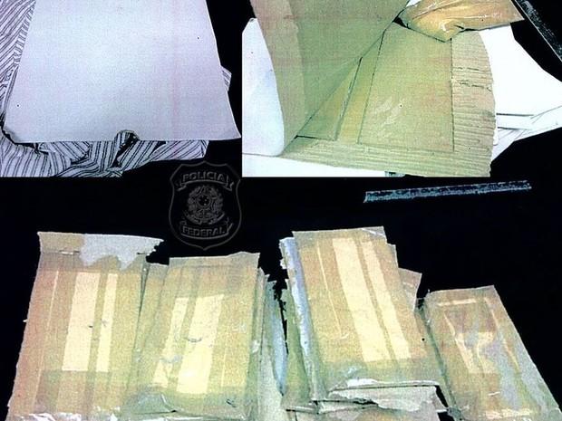 Polícia Federal prendeu espanhol com 6,2 kg de cocaína na última sexta (14) (Foto: Divulgação/ Polícia Federal)