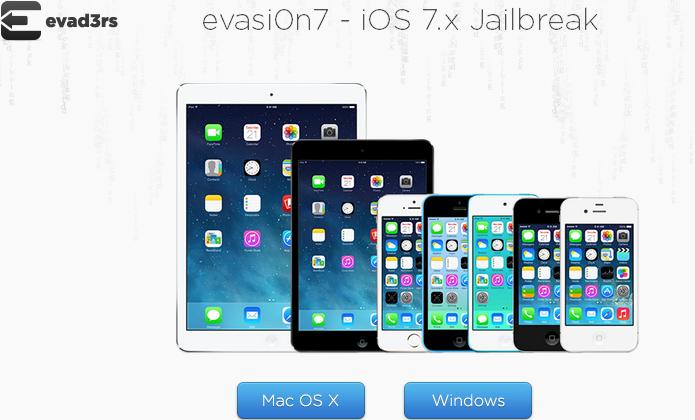 Selecionando o sistema operacional para baixar o evasi0n e fazer o jailbreak do iOS 7 (Foto: Reprodução/Edivaldo Brito)