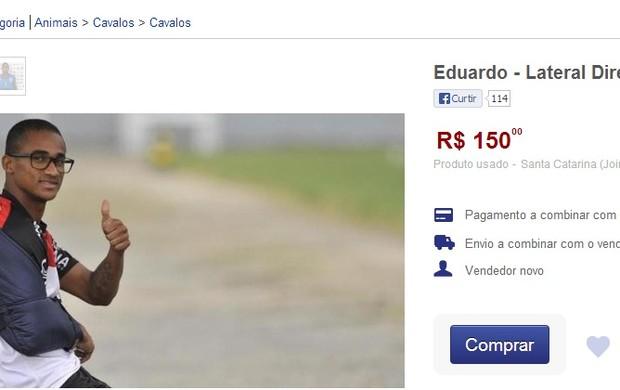 Eduardo Joinville leilão internet (Foto: Reprodução internet)