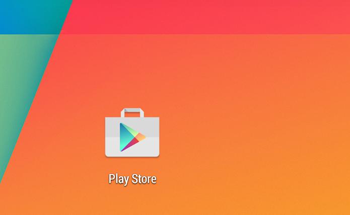 Novo ícone do app Google Play perdeu as sombras e ficou flat (Foto: Reprodução/Paulo Alves)