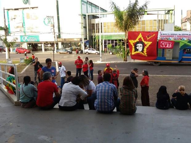 Manifestação, Dilma, governo Temer, Amapá (Foto: John Pacheco/G1)