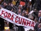 Em votação rápida, 450 deputados disseram 'sim' à cassação de Cunha