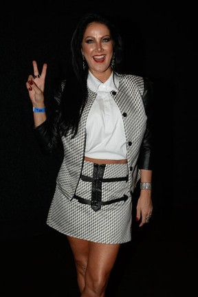 Helen Ganzaroli em show em São Paulo (Foto: Francisco Cepeda/ Ag. News)