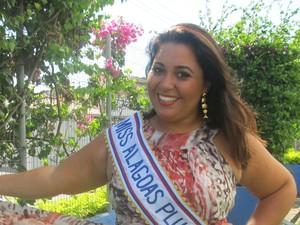 Luiza Bastos Calheiros, Miss Plus Size Alagoas (Foto: Roberta Cólen/ G1)