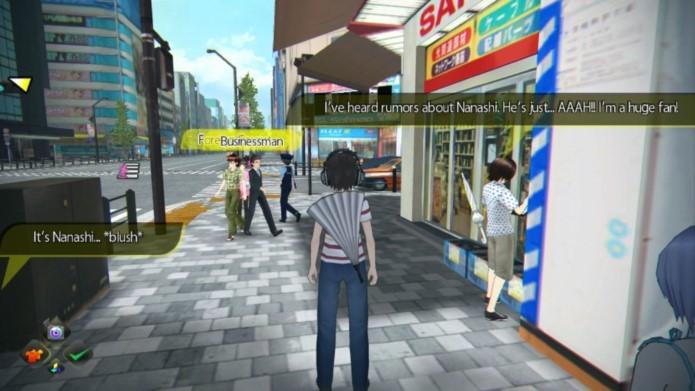 Game se passa em uma representação virtual de um bairro de Tóquio (Foto: Divulgação)