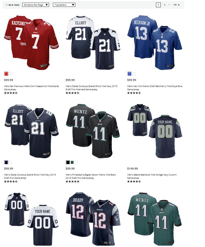 Camisa de Colin Kaepernick é a mais vendida no site da NFL após protesto  (Foto afd88a2d782e0