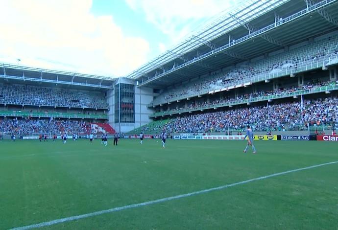 Estádio Independência em jogo do Atlético-MG (Foto: Reprodução / TV Globo Minas)