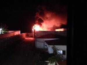 Penitenciária Estadual de Parnamirim - motim fogo (Foto: Divulgação/PM)