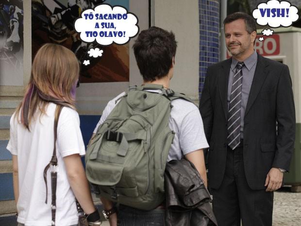 Será que a Lia consegue convencer o Olavo a continuar como advogado do Vitor? (Foto: Malhação / TV Globo)