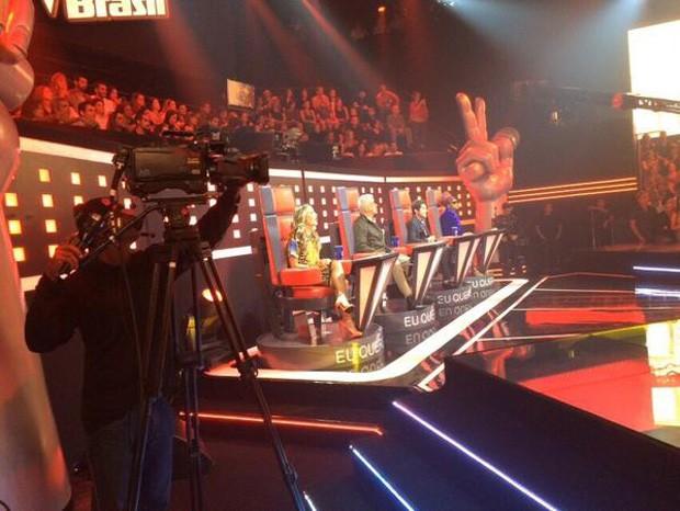 Da plateia, Deborah Secco mostra sua visão do palco (Foto: Arquivo Pessoal)