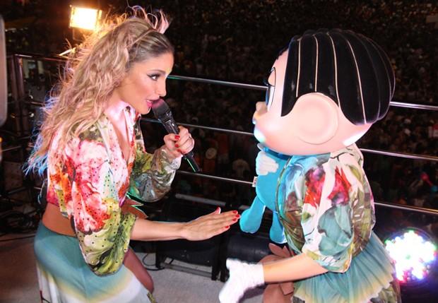 Claudia Leitte com a Turma da Mônica (Foto: Fred Pontes/ Divulgação)