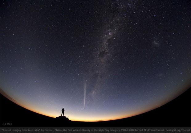 Vencedora na categoria 'Beleza do céu noturno' no concurso de fotografia promovido pelo The World At Night (Foto: Reprodução)
