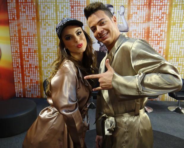 Sthefany Brito e Leandro Azevedo (Foto: Domingão do Faustão / TV Globo)