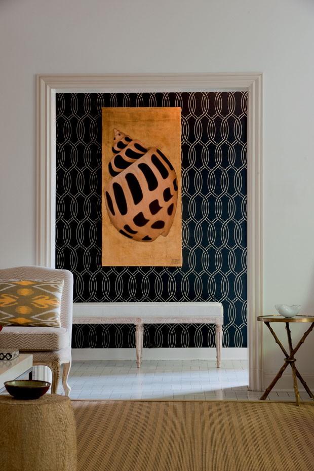 Decoraç u00e3o convidativa no hall de entrada Casa Vogue Interiores -> Decoração Do Hall De Entrada Do Apartamento