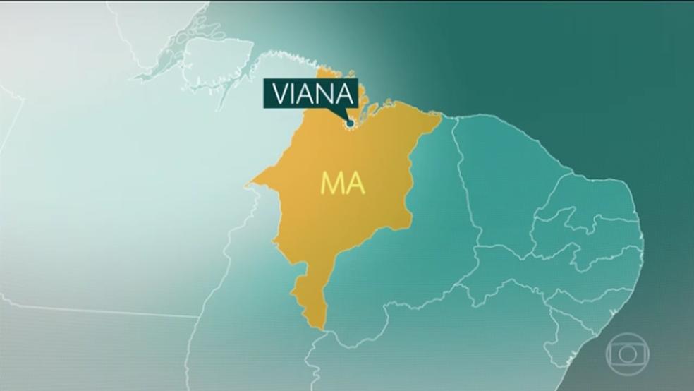 Ataque aconteceu em povoado no municipio de Viana, a 220 km de São Luís.  (Foto: Reprodução/TV Globo)