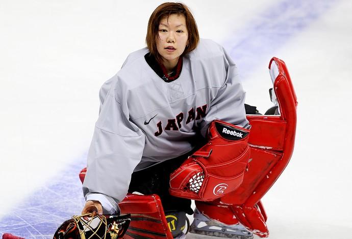 Azusa Nakaoku jogadora de hóquei do Japão (Foto: Getty Images)