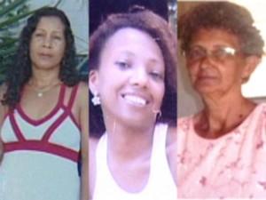 Maria Aparecida Barbosa, Luzinete da Conceição dos Santos e Maria Lúcia da Silva estão desaparecidas (Foto: Reprodução/TV Gazeta Norte)