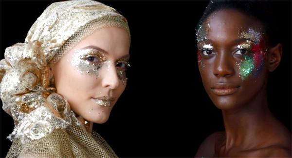 Aprenda como fazer um make brilhante e colorido para o Carnaval (Foto: Reprodução / YouTube)