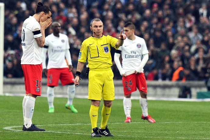 Ibrahimovic, PSG x Bordeaux  (Foto: AFP)