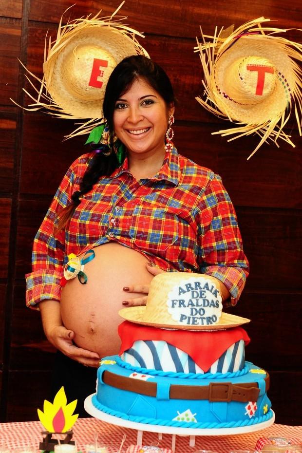 Chá de bebê de Priscila Pires (Foto: Roberto Teixeira/EGO)