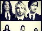 Cleo Pires e as irmãs reproduzem foto da banda Nirvana