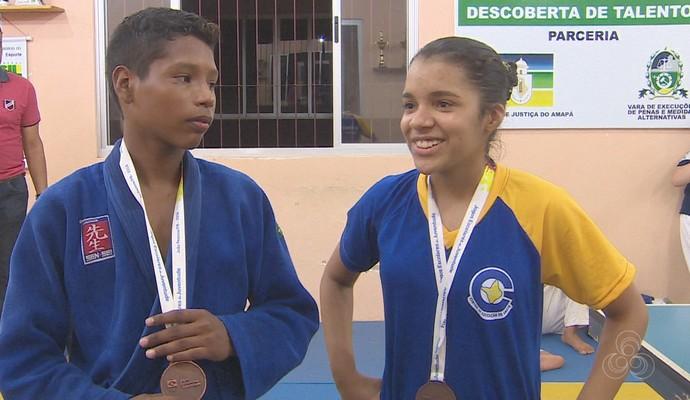 Fábio Santos e Mariana Coutinho (Foto: Reprodução/Rede Amazônica)