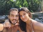Brenno Leone posta foto coladinho com Giulia Costa e diz: 'Ê saudade'