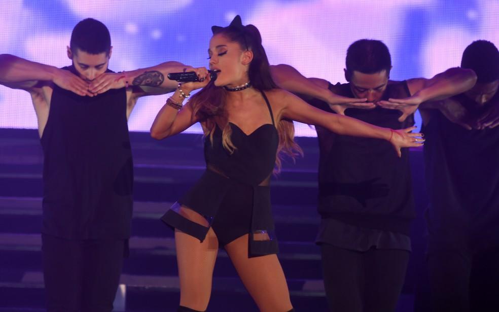 Ariana Grande canta no Brasil em 2015 (Foto: Flavio Moraes/G1)