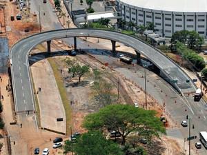 Viaduto da Sefaz é uma das três obras que devem ser inauguradas neste mês (Foto: Edson Rodrigues/ Secopa-MT)