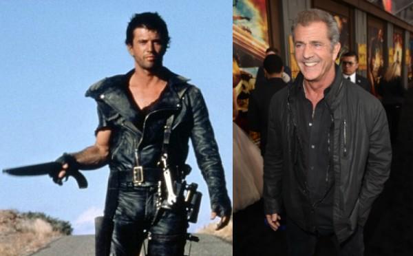 Mel Gibson com 20 e poucos anos em 'Mad Max' hoje tem 59 anos (Foto: Getty Images/Divulgação)