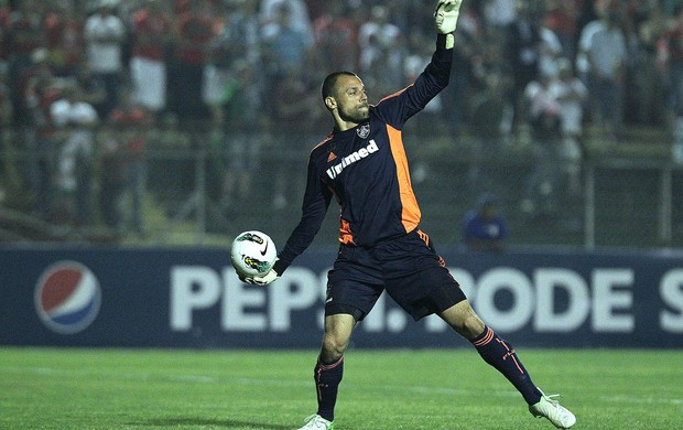 Diego Cavalieri, Portuguesa x Fluminense (Foto: Moises Nascimento / Agência Estado)