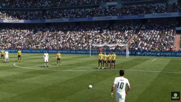Gameplay do jogo FIFA 17 (Foto: Reprodução/Youtube)