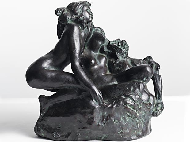 Escultura As sereias, de Auguste Rodin; obra está em exposição no TCU, em Brasília (Foto: Daniel Pinho/Divulgação)