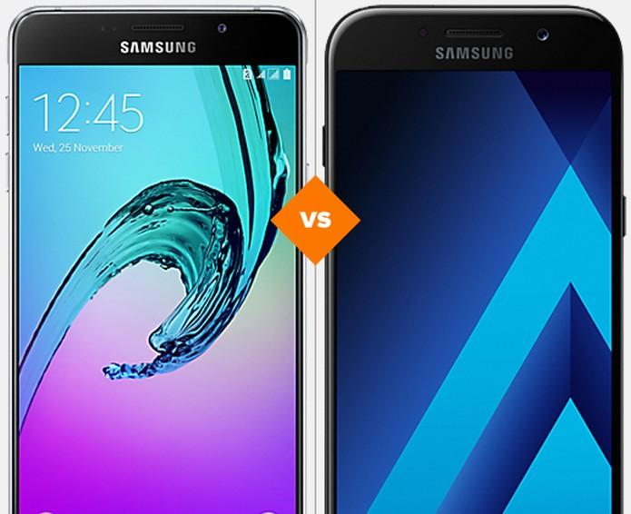 Galaxy A5 2016 e 2017: veja o que mudou na nova versão do celular da Samsung (Foto: Arte/TechTudo)