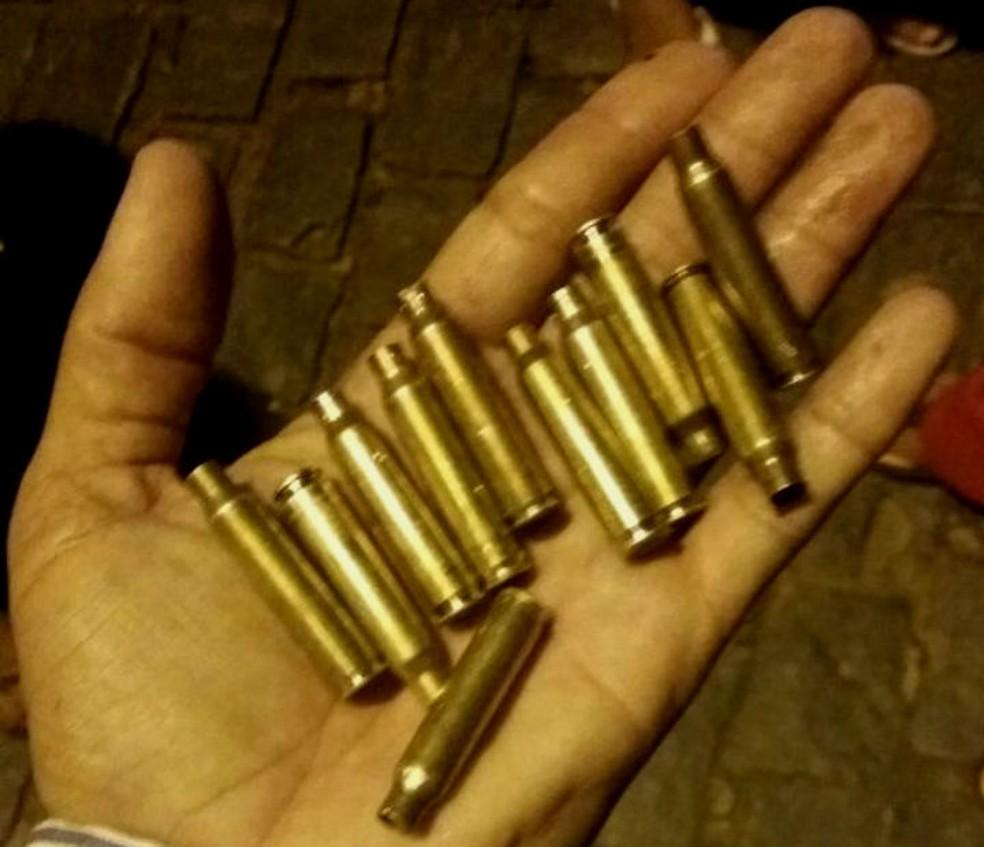 Projéteis de arma de fogo foram encontrados por moradores de Boa Nova, após ação de criminosos na cidade (Foto: Arquivo Pessoal)