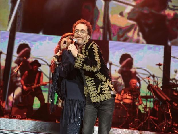 Pitty e Nando Reis em show no Rio (Foto: Felipe Panfili/ Divulgação)