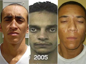 Polícia divulga imagem dos três foragidos do Complexo Penitenciário da Papuda (Foto: Divulgação)