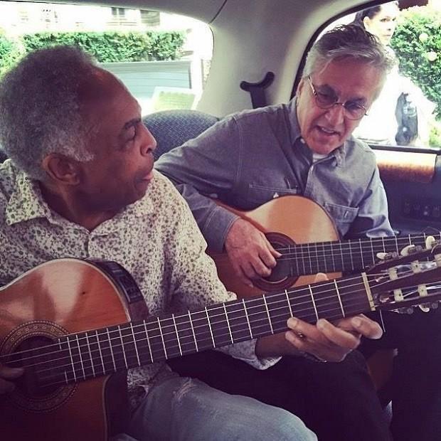 Caetano e Gil - txi (Foto: Reproduo/Instagram)