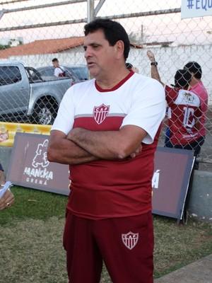 Luiz Eduardo (dir) , treinador, CAP Patrocínio, Patrocinense (Foto: Alair Constantino/Dono do Apito)