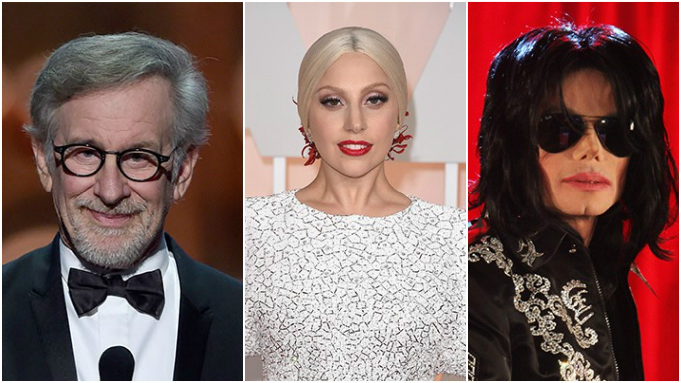 Steven Spielberg, Lady Gaga e Michael Jackson (Foto: Getty Images)