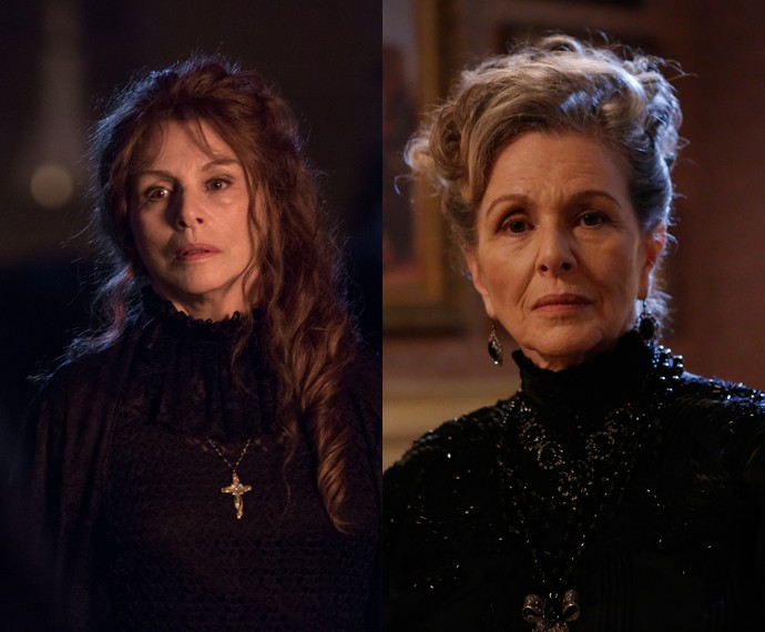 Confira o antes e depois de Irene Ravache no primeiro capítulo (Foto: Fábio Rocha/Gshow)