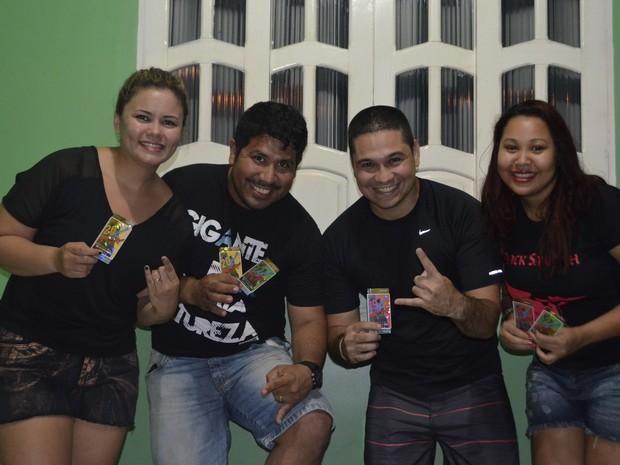 Grupo de amapaenses, que está pronto para ir ao Rock in Rio (Foto: Graziela Miranda/G1)