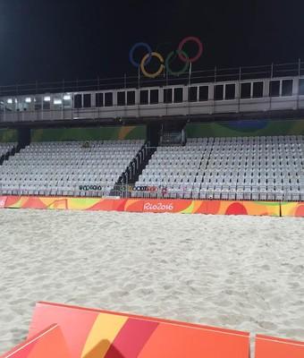 Arena vôlei de praia Rio 2016 (Foto: Gabriel Fricke)