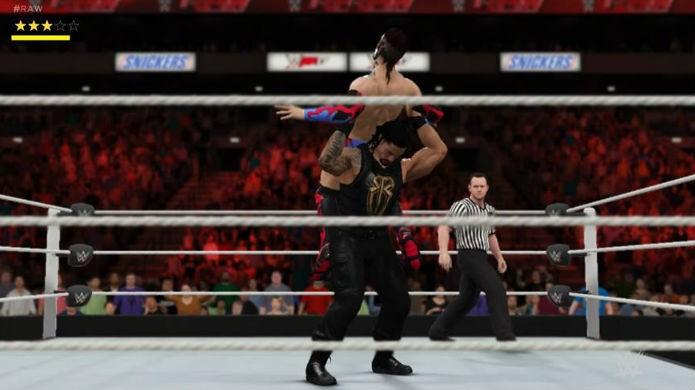 Escapas dos golpes é mais loteria que competência em WWE 2K17 (Foto: Reprodução / Thomas Schulze)