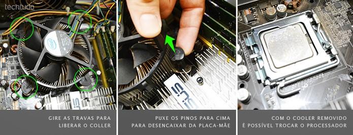 Cada tipo de cooler exige procedimentos diferentes para remoção (Foto: Adriano Hamaguchi/TechTudo)