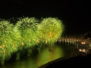 Vista do Pão de Açúcar para a queima de fogos de Copacabana (Foto: Divulgação/Morro da Urca Entretenimento)