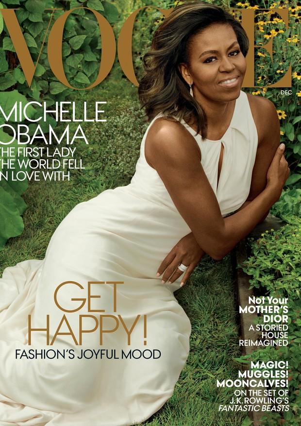 Michelle Obama na Vogue US de dezembro de 2016 (Foto: Divulgação)